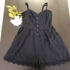 Express Romper with Crochet Detail